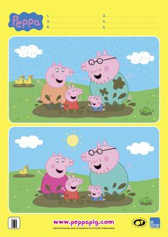Print out these fantastic Peppa Pig activities and keep your kids entertained with craft, cooking and colouring during the school holidays. Quiet Time Activities, Printable Activities For Kids, Montessori Activities, Color Activities, Toddler Activities, Winter Activities, Spot The Difference Kids, Peppa Pig Printables, Learning English For Kids