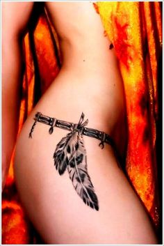 sexy thigh tattoos for women 12