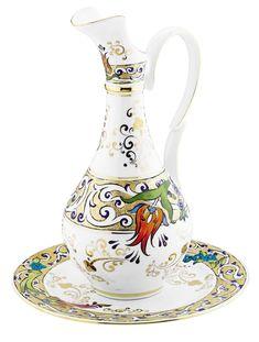 küyahya porselen sürahi modeli Tile Art, Mosaic Art, Image Glass, Pattern And Decoration, Turkish Tiles, China Painting, Glass Ceramic, Islamic Art, Wood Art