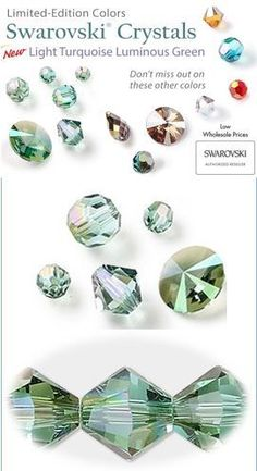 2aa60cd20 New Swarovski Limited Edition Color - Light turquoise luminous green is a  limited-edition color