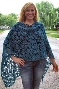 gemstones crocheted shawl