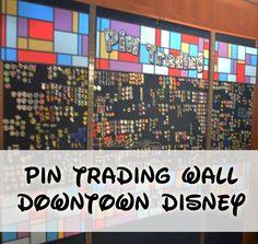 Pin Trading Wall at the Pin Hut in Downtown Disney/ Disney Springs