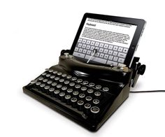 iPad typewriter dock - how cool!!
