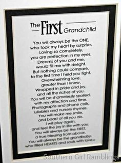 First grandchild poem