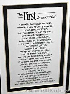 First grandchild poem