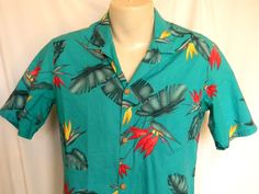 Paradise Found Floral Green Mens Hawaiian Shirt #ParadiseFound #Hawaiian