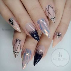 Nice 20+ Easy and Gorgeous Nail Art Ideas You Need to Try 2017 from https://www.fashionetter.com/2017/04/07/20-easy-gorgeous-nail-art-ideas-need-try-2017/