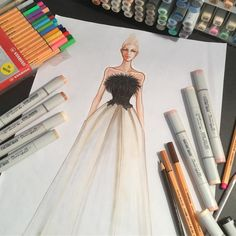 Work in progress #fashion #fashion design #couture by #fashionillustrator #paulkengillustrator #inspiration #youcandoit !!!