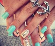 Nails summer wuv the ring i wonder were i can get one