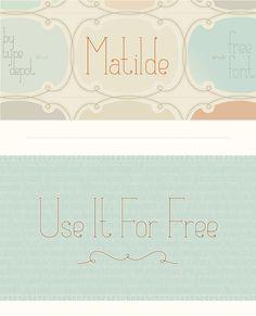 Matilde Font. #fonts #matilde