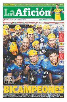 De forma perfecta y con 21 triunfos consecutivos, Auténticos Tigres conquistan el BICAMPEONATO de la ONEFA en el Volcán 34-20