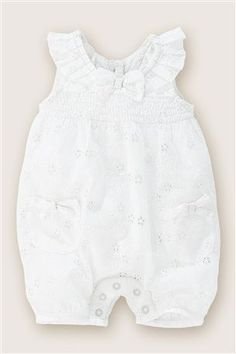Broderie Anglaise Romper (0-18mths) from the Next UK online shop