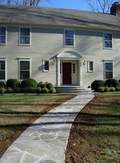 Designed by Abby Jochnowitz for www.DesignAnts.com New bluestone walkway and steps.