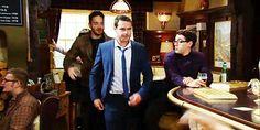 Aaron Livesy (Danny Miller), Adam Barton (Adam Thomas) & Finn Barton (Joe Gill) (September 2014)