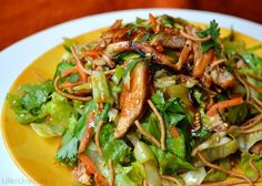 California Pizza Kitchen's Asian Chicken Salad with Sweet and Sour Dressing
