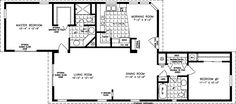 Just wondering if Fleetwood or Champion Manufactured Home dealership would be willing to order and custom make it for a customer in Georgia and Tennesse , I really love this floorplan. New House Plans, Small House Plans, House Floor Plans, 2 Bedroom Floor Plans, Mobile Home Floor Plans, Manufactured Homes Floor Plans, Prefab Modular Homes, Add A Room, Dreams Beds