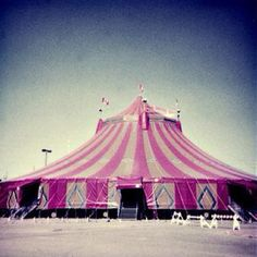 Something like this in pink or red and of course smaller for your event tent perfect for circus or carnival themed affair. Pink Love, Pretty In Pink, Hot Pink, Carrousel, Little Presents, I Believe In Pink, Colorful Roses, Beautiful Interior Design, Big Top