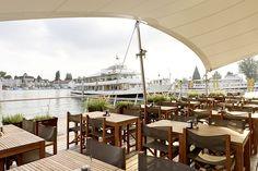 Restaurant Hafen Romanshorn, Interior Susanne Fritz Architekten, Photo © Pierre Kellenberger Restaurant, Hospitality Design, Patio, Fritz, Interior, Outdoor Decor, Home Decor, Style, Konstanz