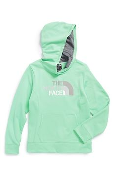 The North Face 'Logo Surgent' Fleece Pullover Hoodie (Little Girls)