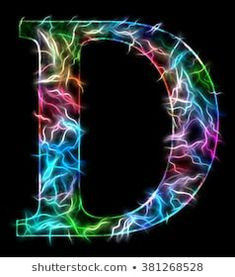 Capital Letter D, illustration of a multicolored decorative letter with light streaks on a black background D Letter Design, Alphabet Letters Design, Fancy Letters, Light Letters, Graffiti Alphabet, Alphabet And Numbers, Black Backgrounds, Wallpaper Backgrounds, Iphone Wallpapers