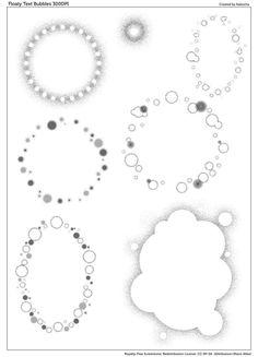 Floaty Text Bubbles (Screentone) by kabocha on DeviantArt Anime Drawing Styles, Manga Drawing, Manga Art, Comic Template, Text Bubble, Comic Tutorial, Comic Layout, Comic Book Style, Comic Panels