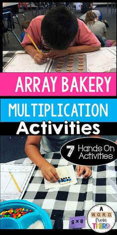 Array Bakery: Multiplication Activities and Room Transformation Fourth Grade, Third Grade, Ninth Grade, Seventh Grade, Teaching Math, Teaching Resources, Teaching Ideas, Commutative Property, Math Fact Practice