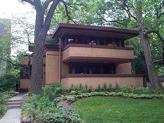 The Laura R. Gale House,   6 Elizabeth Court, Oak Park, Il 60302, built 1909, designed by Frank Lloyd Wright architect.