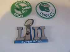 Philadelphia Eagles Logo Patch - 3 Patches - Iron On/Sew On