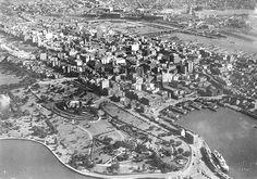 Aerial View Of Sydney. Sydney Skyline, Sydney City, Aboriginal History, History Photos, Historical Pictures, Sydney Australia, Aerial View, Old Photos, Aussies
