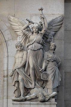 Le Drame lyrique (h.1860-69) Jean-Joseph Perraud (Francia, 1819-1876)  Academicismo Burgués Ópera Garnier, París