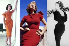 The Wiggle Dress-You hear the term wiggle dress used a lot at the moment, especially since Mad Men became popular, and often it's applied to something which is nothing like an actual wiggle dress! A proper wiggle dress is a fitted dress meant to exaggerate an hourglass figure  and which is narrower at the hem than around the hips. This forces the wearer's knees to stay close together and causes them to wiggle their hips when they walk! Makes sense eh?
