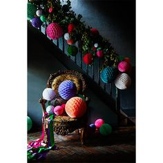 Christmas pom pom decorations. For more like this, click the picture or visit RedOnline.co.uk