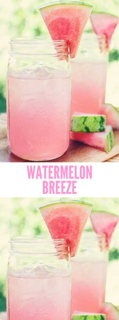 Watermelon Breeze Drink Delicious is part of Watermelon Breeze Recipe Delicious Food Smoothie - Recípe for Watermelon Breeze Fresh, líght and low cal summer drínks that are an easy breezy treat! All you need ís a blender Also Try Our Recipe … Watermelon Alcoholic Drinks, Watermelon Cocktail, Watermelon Recipes, Cocktail Drinks, Cocktails, Watermelon Slushie, Cut Watermelon, Cocktail Recipes, Drink