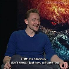 """Now I have to ask this man.. in every picture you look like... I'm gonna kill you with kisses and hugs."" Gif-set (hiddlestonhiddles): http://maryxglz.tumblr.com/post/161310021702/hiddlestonhiddles-tom-hiddleston"
