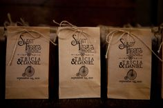 Rustic Brown Bag Wedding Favor Bags