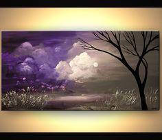 Landscape Painting - Purple Scent #6295