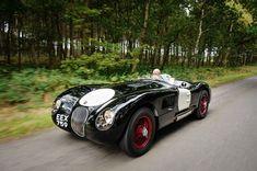 Martin Tystad drives our works demonstrator 1953 C-Type Jaguar Vintage Cars, Antique Cars, Jaguar Xk120, Triumph Spitfire, Checkered Flag, Vintage Classics, Race Cars, Super Cars, Classic Cars