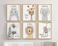 Safari Nursery Decor Set, Animal Nursery D - Paper Flower Backdrop Wedding