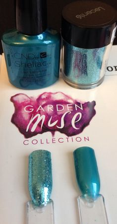 CND Shellac Lost Labyrinth and Baby Blue Lecente Glitter