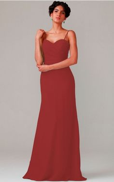 None Floor-length Natural A-line Chiffon Formal Dresses b1400093
