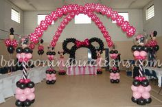 minnie mouse center pieces | Minnie Mouse Balloon Centerpiece Other Party Decorations Pic #14