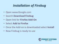 Installation of firebug