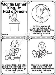 Martin Luther King Jr booklet and writing activities - this focuses on his dreams for his children and the dreams of our students! $