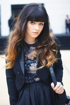 Love the cut. and the ombre, but it would be a little too intense for me... would prefer a more subtle ombre