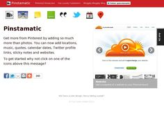 The website 'http://pinstamatic.com/' courtesy of Pinstamatic (http://pinstamatic.com)  Pin Websites, Notes, Spotify, Tweets, Maps and more in a easy way.