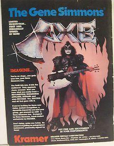 The Gene Simmons Kramer Guitar Magazine AD