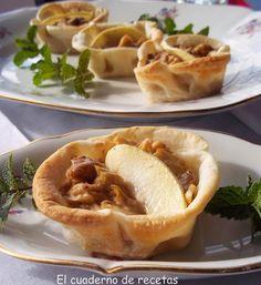 Nidos de pollo con salsa de champiñones