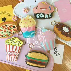 Корея милый творческий гамбургер торт пончик смешной ключ монета пакет личность…
