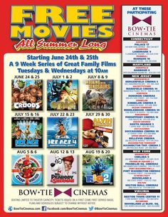Free Summer Movies at Bow Tie Cinemas