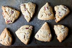 Naughty Rhubarb Scones- why not?  this crap is growing in my yard like a jungle... should give this a shot!